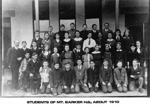 Students of Mt Barker HS, about 1910